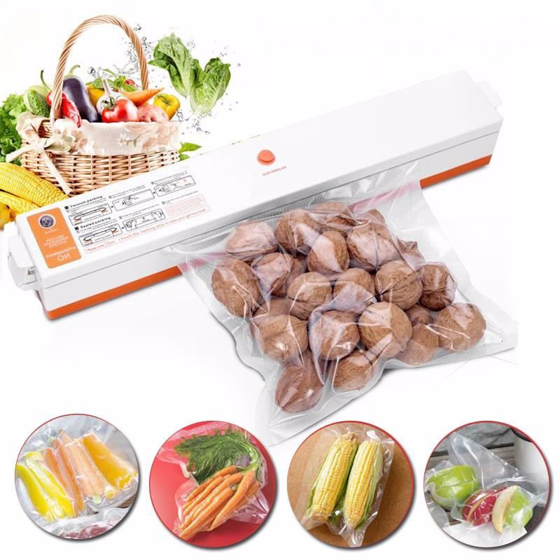Automatic Electric Vacuum Sealer Food Saver Storage Bags Kitchen Seal Ring Machine Food Vacuum Machine