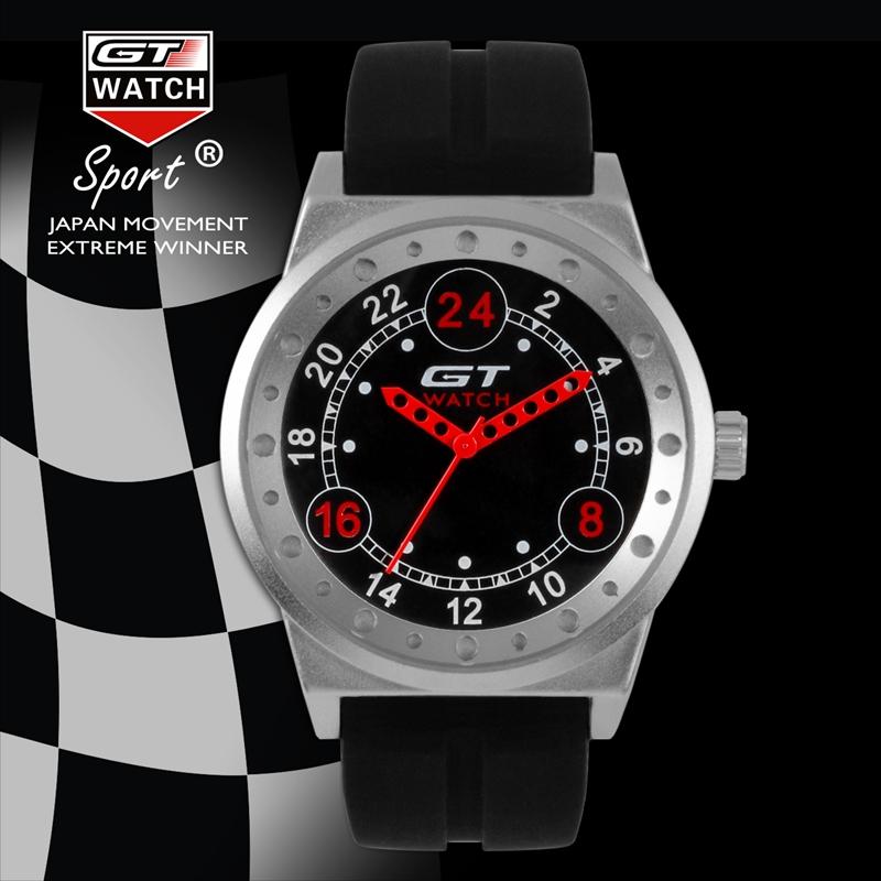 GT 003 Silica Gel Strap Endurance Race Style Sprot Casual Men Quartz Wrist Watch
