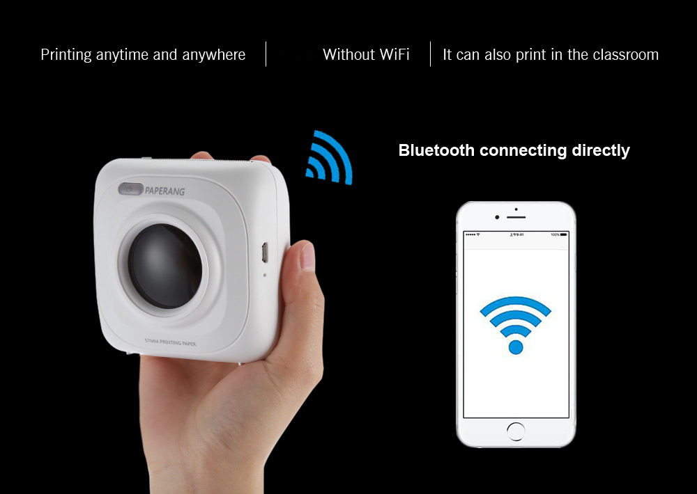 Paperang P1 Portable Wireless bluetooth 4.0 Phone Connection Photo Printer