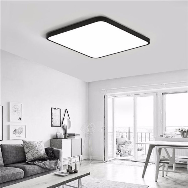 30W Modern Dimming LED Ceiling Light Surface Mount Lamp with Remote Control for Bedroom Bar