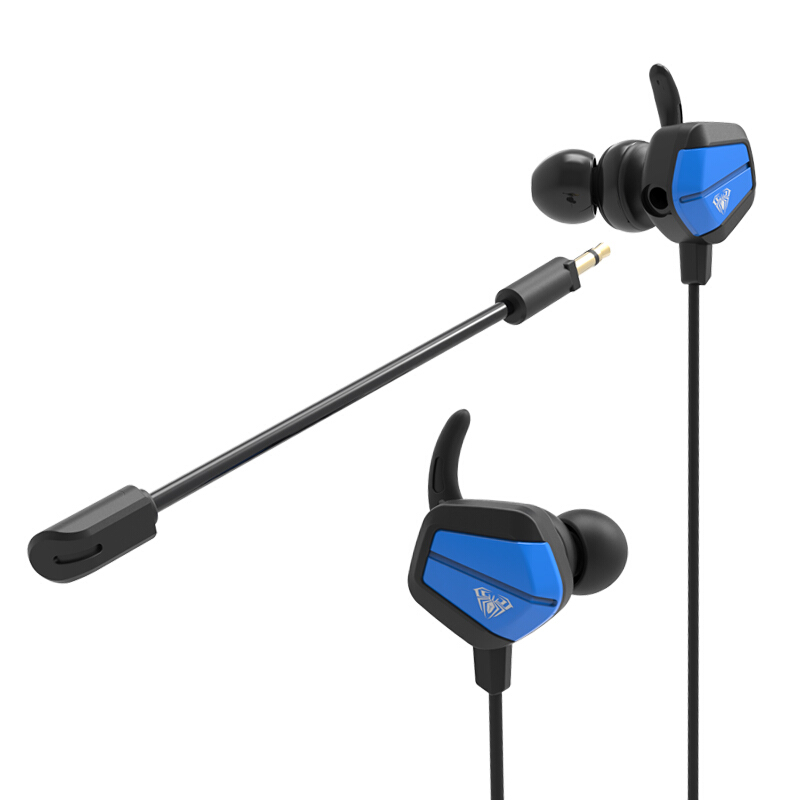 AULA A1 3.5mm Wired HiFi In-ear Gaming Earphone with Dual Microphone