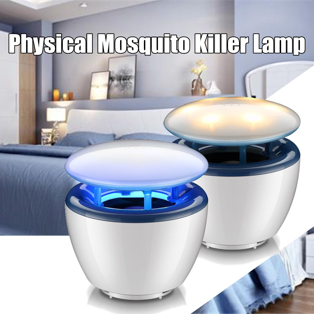 90-250V 6W Electric Mosquito Dispeller Zapper Killer LED Physical Fly Insect Bug Trap Lamp Bulb