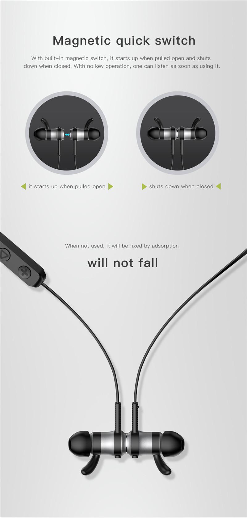Baseus Encok S01 Magnetic Switch Wireless Bluetooth Earphone Dynamic Sweatproof Sports Headphone