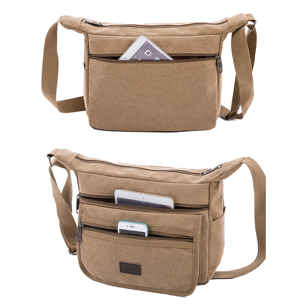 Men Women Large Capacity Travel Crossbody Bag for Ipad Mini