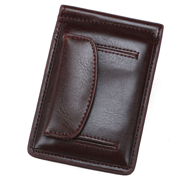 Men Wallet Money Clip Wallet Card Case with 1 Card slot & 1 Coin Pocket