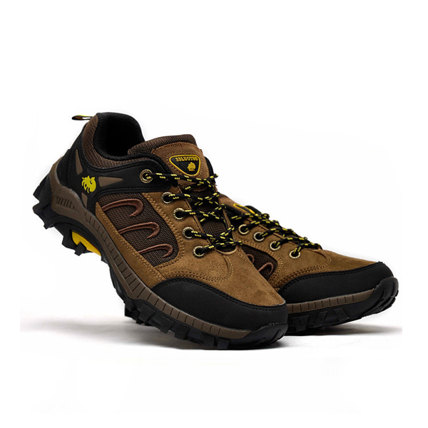 Mens Mountaineering Shoes Lace Up Walking Shoes Breathable Outdoor Athletic Shoes