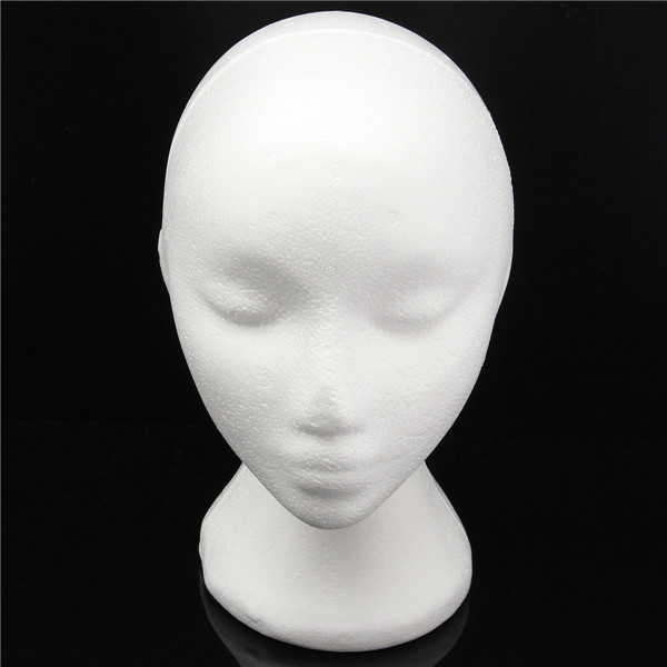 Female Styrofoam Foam Mannequin Head Wigs Hair Display Model Stand