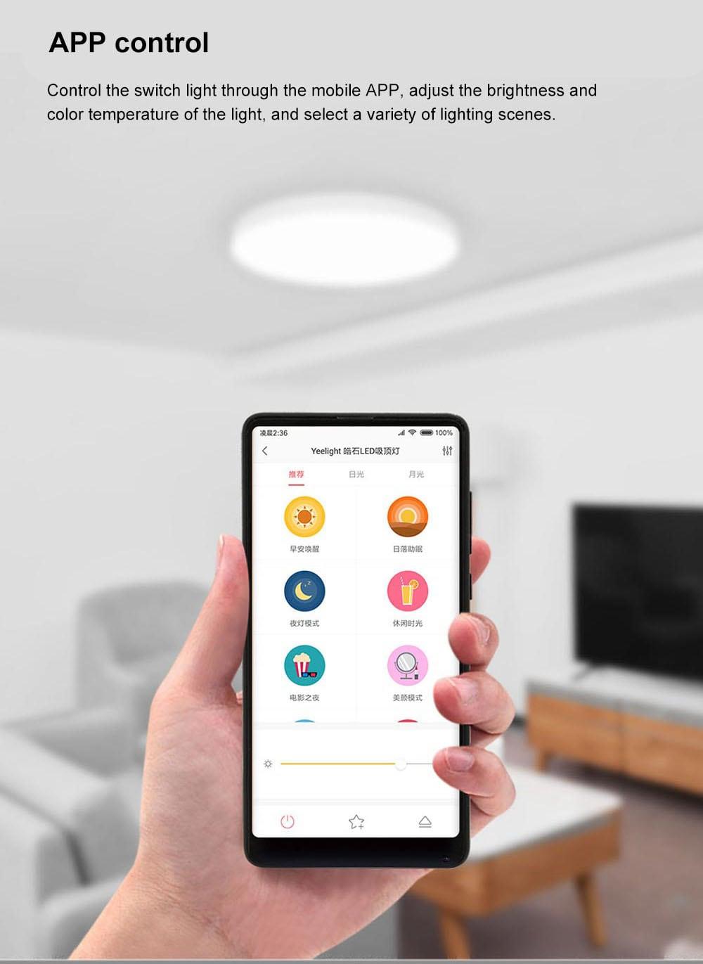 Yeelight 35W Nox Round Diamond Smart LED Ceiling Light for Home Bedroom Living Room (Xiaomi Ecosystem Product)