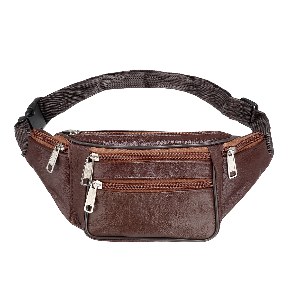 Specification: Material Pu Leather Color Brown, Coffee, Yellow, Black, Khaki Size 22 x 7 x 13cm / 8.7 x 2.8 x 5.1inch Weight 173g Features: Top with a hook to attach on the waist easily. With adjustable strap, you can be hung on the neck, not easy to lost #handbag