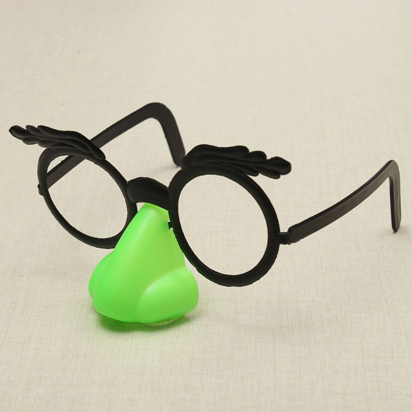 Funny Glasses With Big Nose And Mustache Clown Toys
