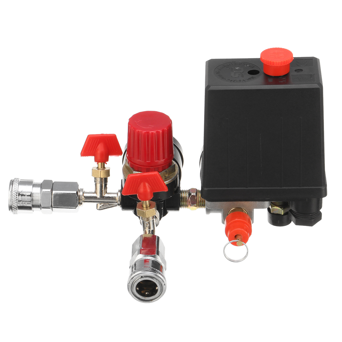 Air Compressor Pressure Switch Control Valve Manifold Relief Regulator Gauge With Quick Connector