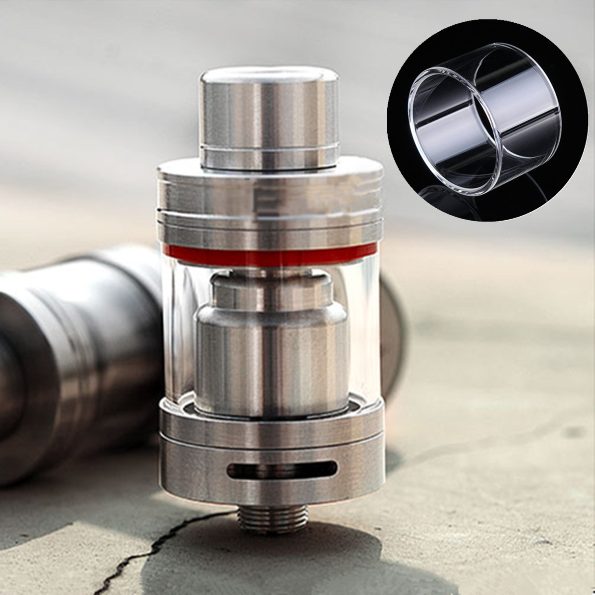 Replacement Transparent Pyrex Glass Tube Cap Tank for Serpent Mini 22 RTA