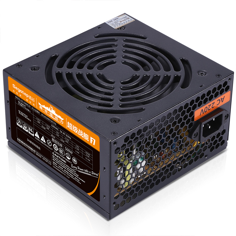 Segotep F7 500W ATX Computer Power Supply Desktop Gaming PSU Active PFC 120mm Fan 86% Efficiency