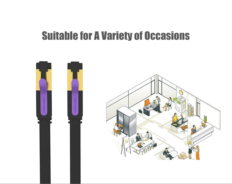 Vention ICAB 1~10M 10Gbps CAT-7 RJ45 Patch Cord Ethernet Cable Durable Strong LAN Networking Cable