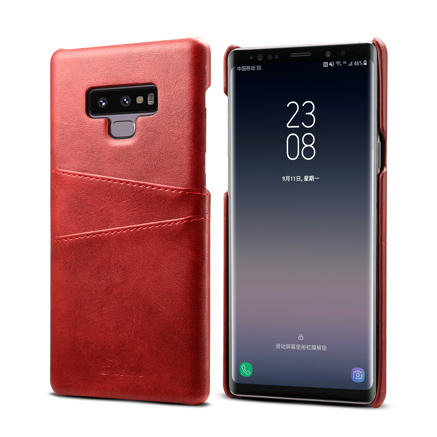 Premium Cowhide Leather Card Slot Protective Case For Samsung Galaxy Note 9