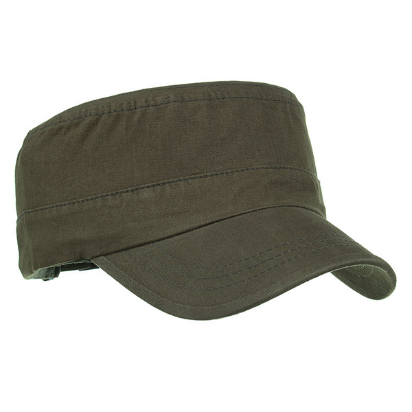 Mens Summer Cotton Breathable Army Plain Flat Baseball Cap