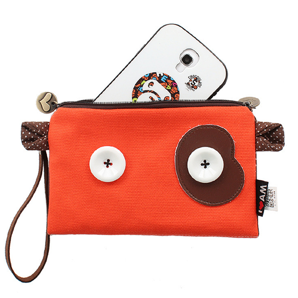 Cartoon Cute Style Coins Bag 5.5inch Phone Bag Card Holder Clutch Bags