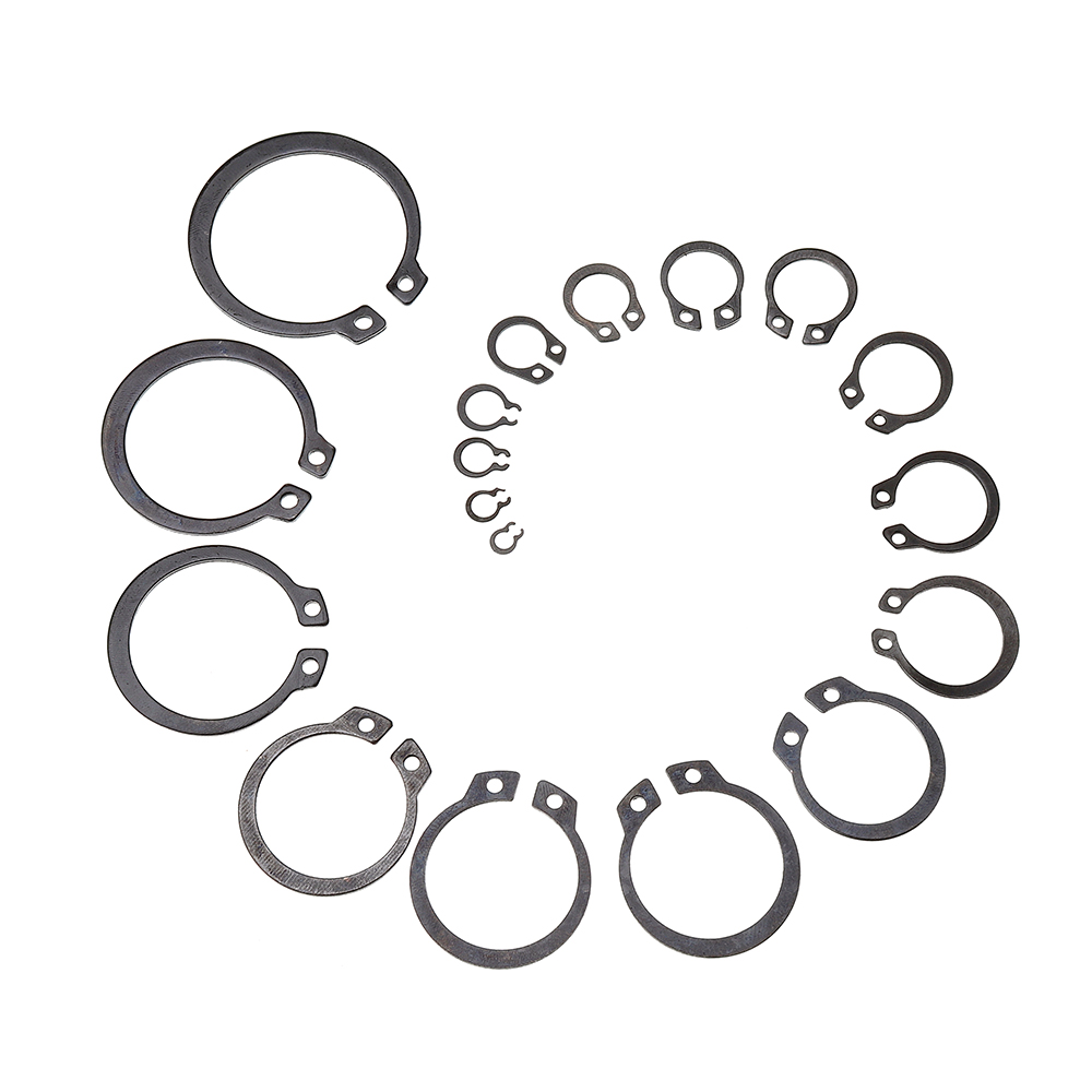 Suleve™ MXCC1 300Pcs Heat Treated Carbon Steel C-Clip Retaining Rings Circlip Snap Ring Set 9-32mm
