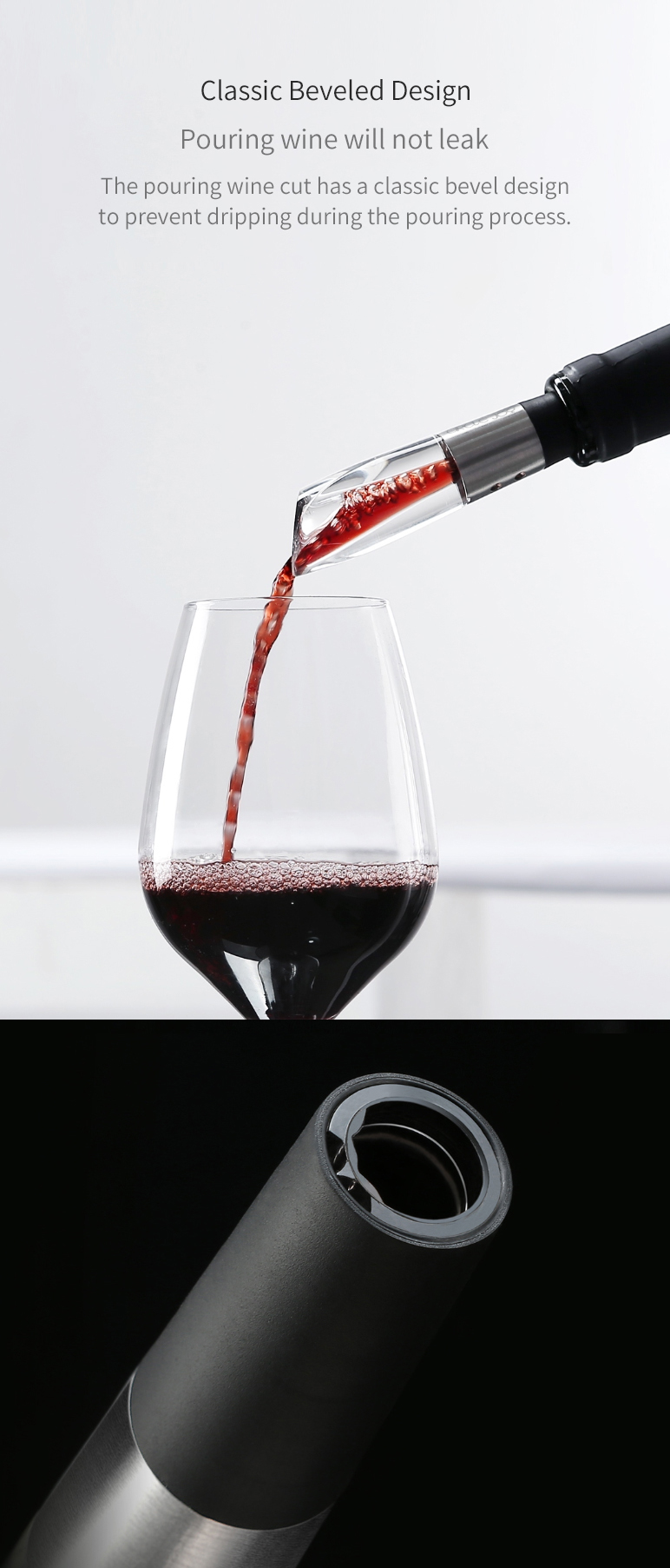 XIAOMI CIRCLE JOY Stainless Steel Fast Decanter Wine Decanter Wine Pouring Tools
