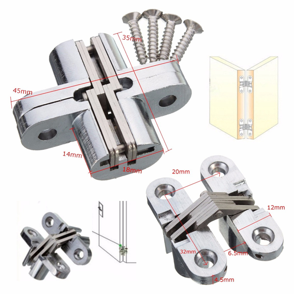 Hidden Hinge Stainless Steel Invisible Hinges Wooden Box Folding Door