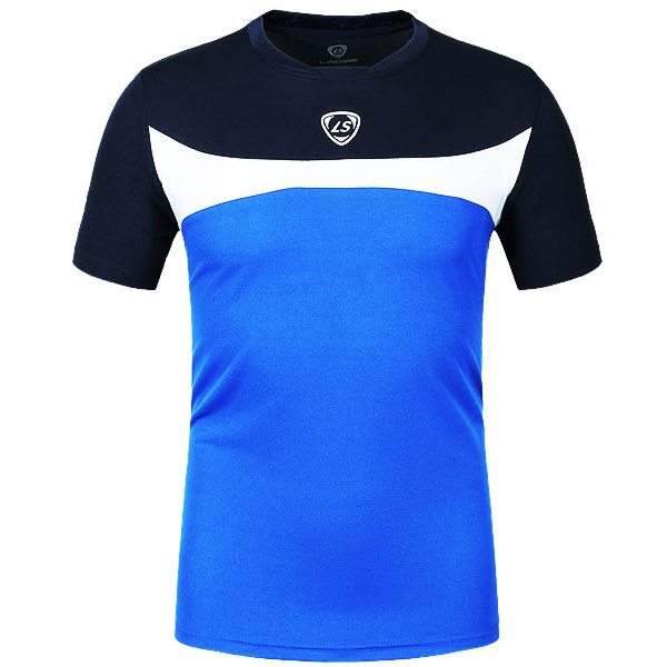 Mens Quick-Dry Outdoor Breathable Tees Contrast Color Training Short Sleeve Sport T-shirt