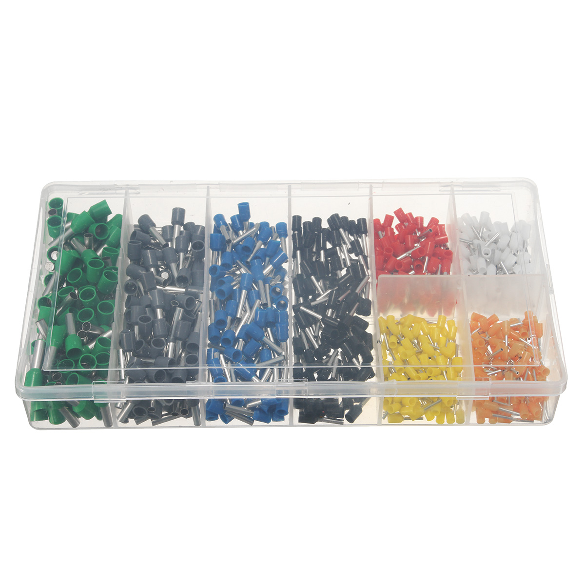 Excellway® Assorted Insulated Electrical Wire Terminals Connectors Crimp Set 800Pcs