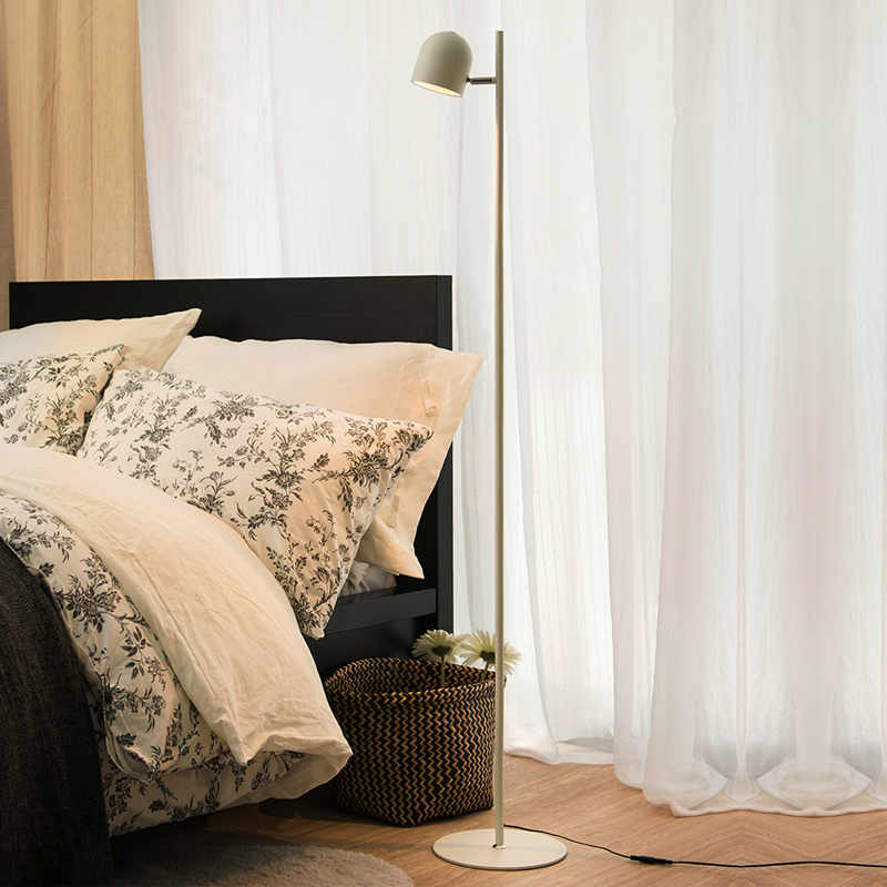 Minleaf PLD170L Metal Floor Lamp Stand Light for Living Room Bedroom Point Touch Switch Design Night Light