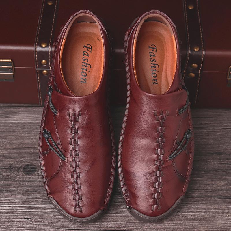 Men Comfortable Genuine Leather Soft Sole Oxfords