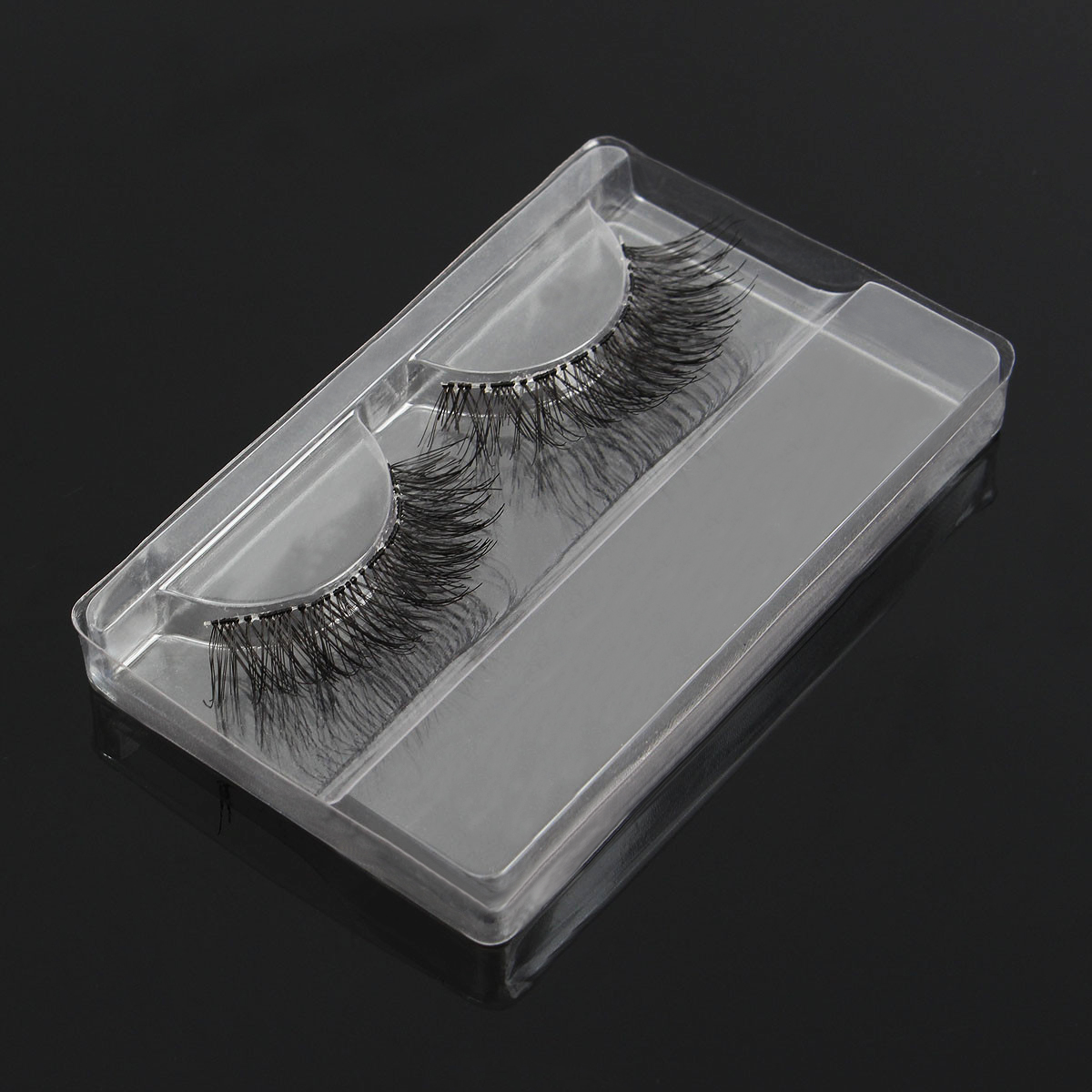1pc False Eyelashes Packing Box Clear Transparent Reusable Portable Eye Makeup Tools