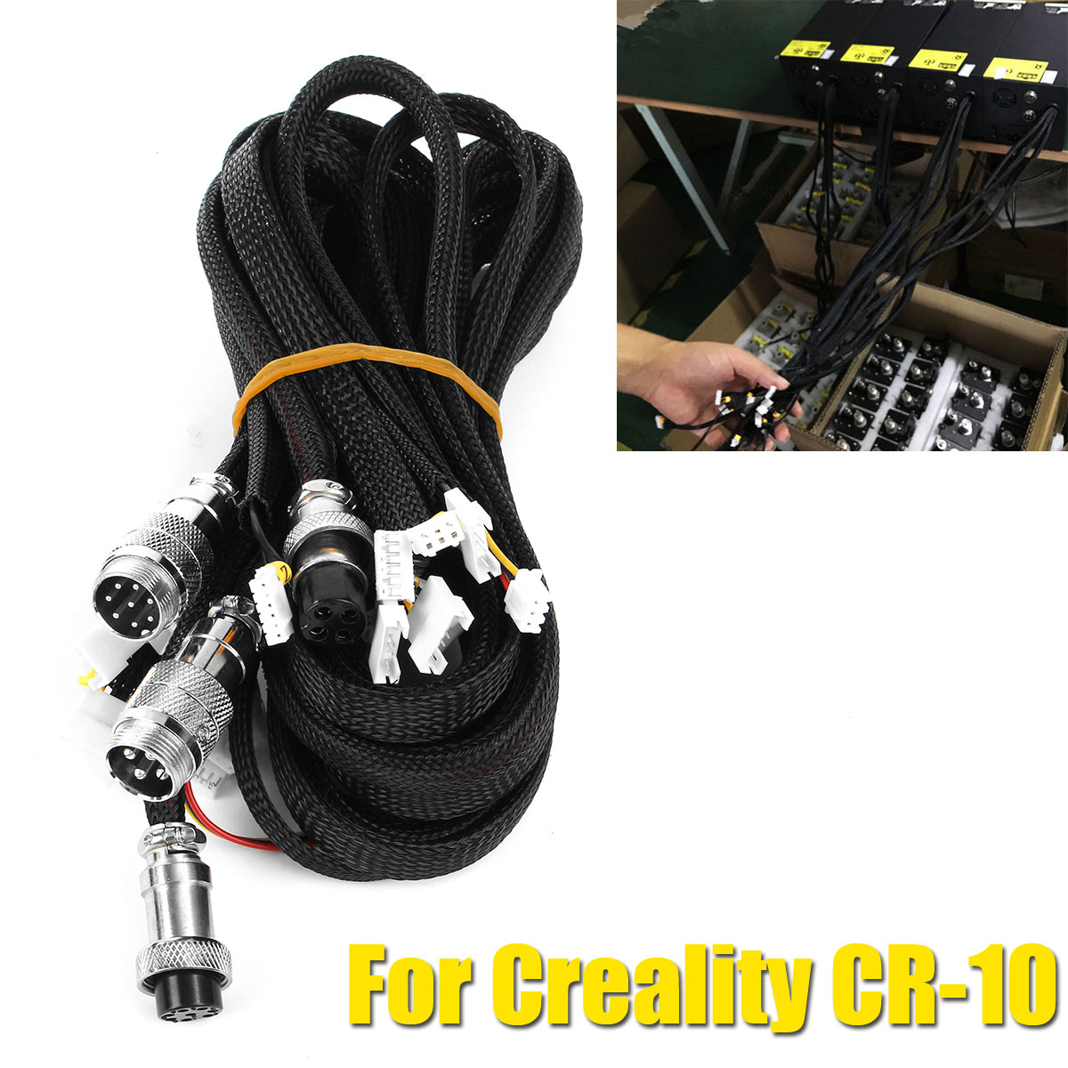 Upgrade 3D Printer Black Extension Cables Kit For Creality CR-10