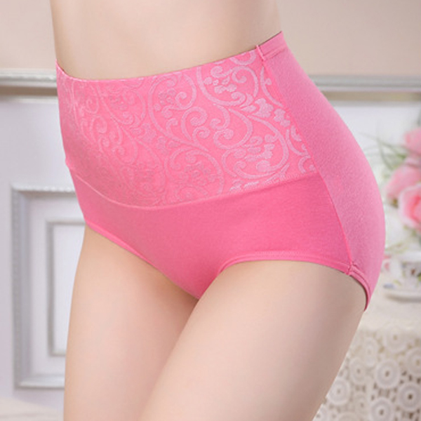 Women Multi-colors High Rise Cotton Breathable Stretchy Briefs Shapping Panties