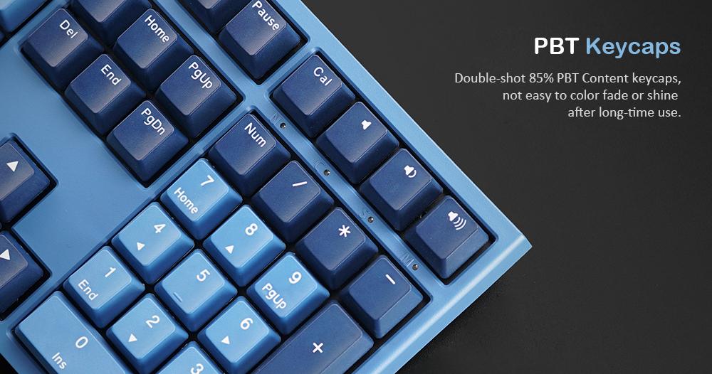 AKKO X Ducky One 2 Ocean Star 108 Key Cherry MX Switch PBT Keycap Mechanical Gaming Keyboard
