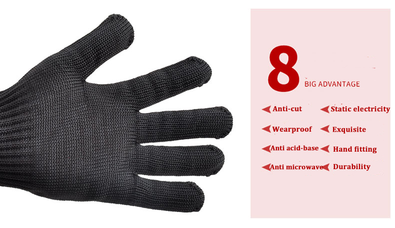 IPRee® 1 Pair Of 5 Level Anti-Cutting Gloves Stainless Steel Wire Safety Work Hands Protector Cut Proof