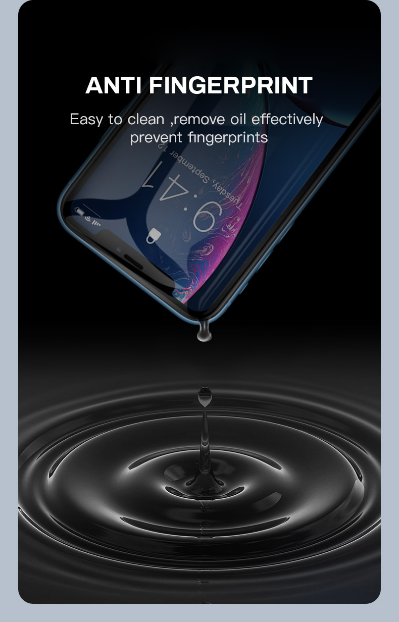 Cafele True 6D Curved Edge Tempered Glass Screen Protector For iPhone XR
