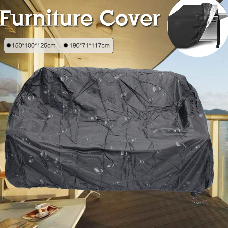 Garden Patio Furniture Set Cover Dust Wind Waterproof Oxford Fabric Table Chair Shelter