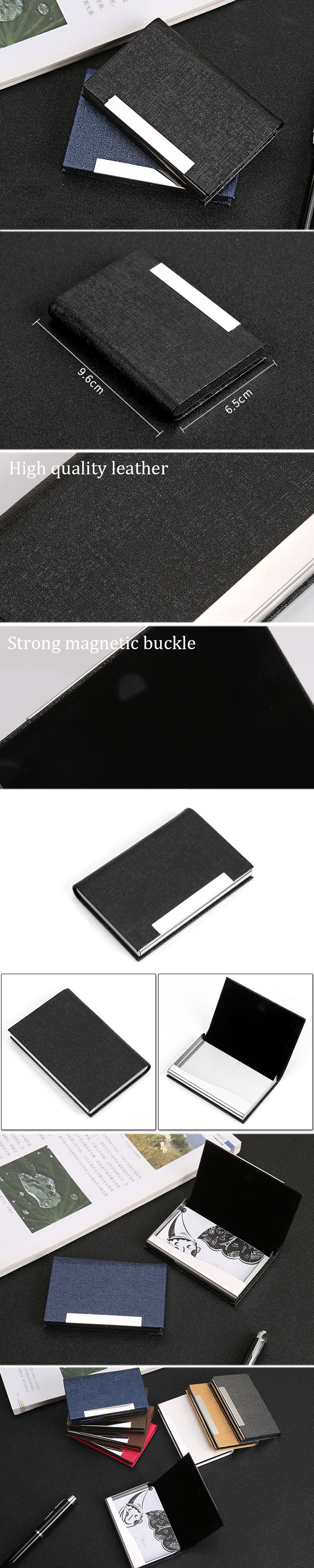 IPRee® Stainless Steel Card Holder Credit Card Case Portable ID Card Storage Box Business Travel