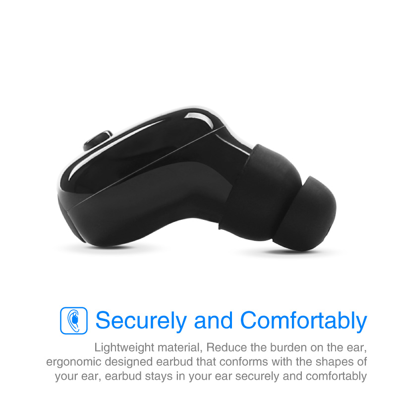 Mini Sport Swimming Waterproof IP68 Wireless bluetooth Earphone Headphone With Buckle