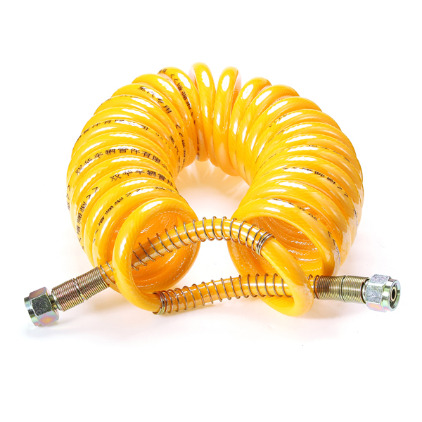 7.5m PU Trailer Tube Brake Coiled Hose Dual Spring Air Pipe Helix Trachea Tube for Heavy Truck