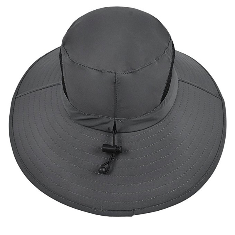 Men Plus Size Sunscreen Wide Brim UV Protection Fishing Hat