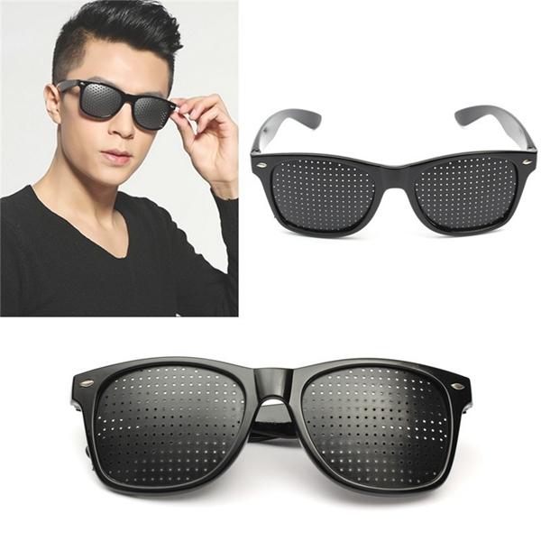 Anti Fatigue Eyesight Vision Improve Pin Holes Stenopeic Pinhole Glasses Eye Care Sun Glassess