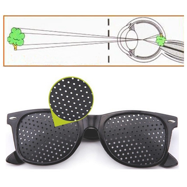 Anti Fatigue Eyesight Vision Improve Pin Holes Stenopeic Pinhole Glasses Eye Care Sun Glassess