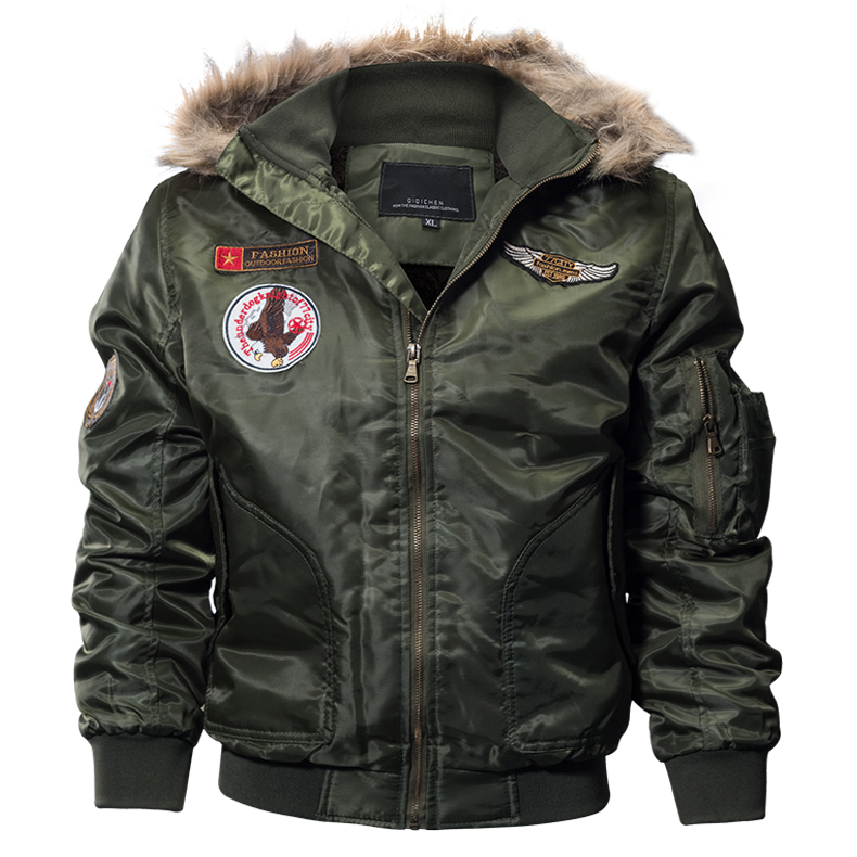 Pilot Bomber Jacket Army Military Flight Motorcycle Jackets
