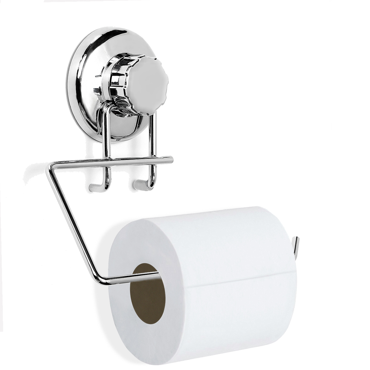 Powerful No-Drilling Vacuum Suction Cup Toilet Paper Holder Toilet Roll Holder for Bathroom Kitchen