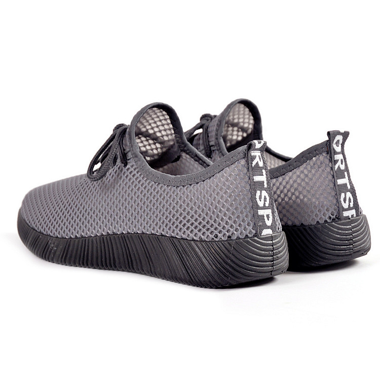 Men Sandals Shoes Mesh Summer Running Breathable Slip On Beach