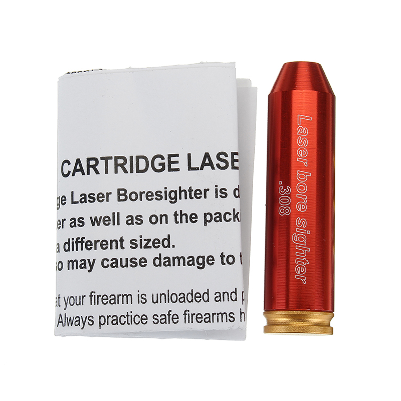 Red 308 Laser Boresighter Red Dot Sight Brass Cartridge Bore Sighter Caliber