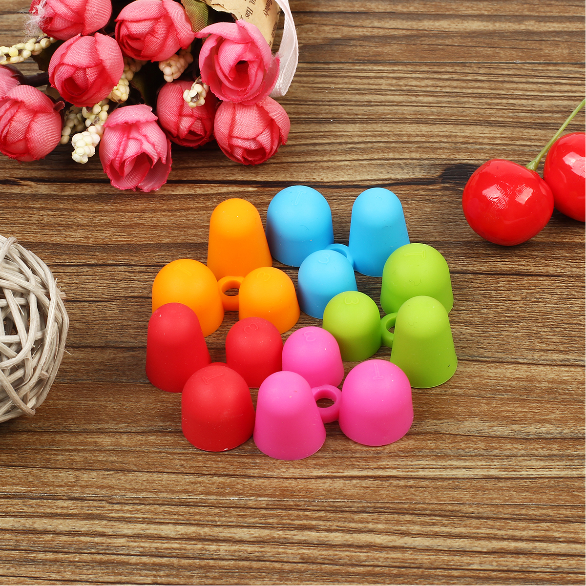 5Pcs Children Anti Myopia Pencil Grip 3 Fingers Silicone