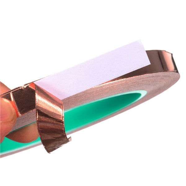 25 Meters 10mm EMI Shielding Double Sided Conductive Self Adhesive Copper Foil Tape
