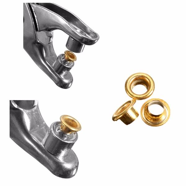3pcs/set Punch Plier Duty Leather Hole Punch Hand Pliers with 200pcs Grommet