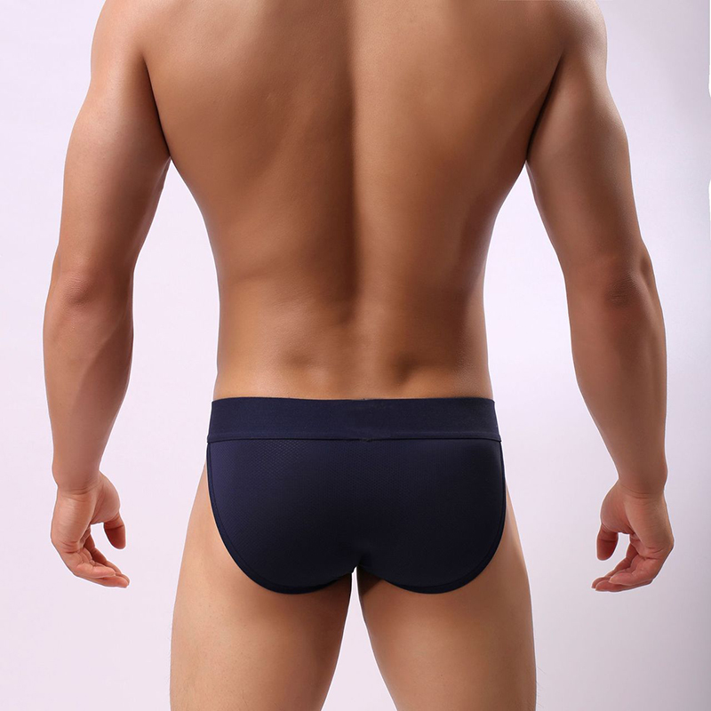 Mens Sexy Mesh Low Rise Breathable Solid Color Thong