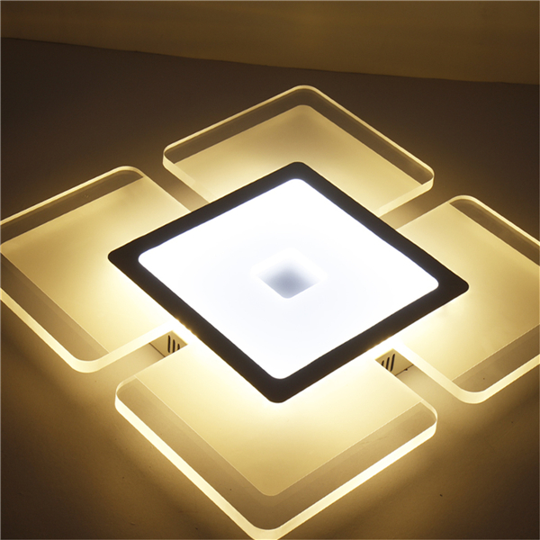28W 42*42cm Acrylic Squarer Modern Ceiling Light Mounted Fixture for Home Living Room Decor AC220V